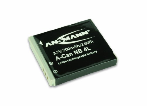 ANSMANN 5022263 A-Can NB 4 L Li-Ion Digicam Ersatzakku 3,7V/700mAh für Canon Foto Digitalkamera