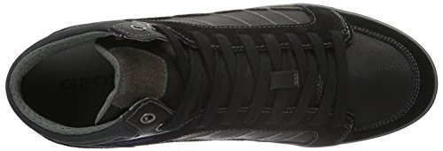 Geox U Box G, Scarpe da Ginnastica Alte Uomo Schwarz (BLACKC9999)