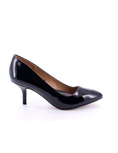 Cuir verni noir Maria Mare Chaussure Talon Noir