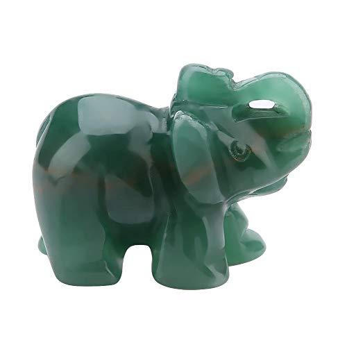 Naturstein Elefant Figur Jade Geschnitzte Glücklicher Elefant Artware Home Decoration Einrichtungsgegenstand 1,5 zoll(07) (Jade Elefant)