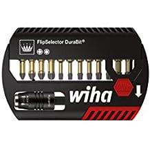 """Wiha FlipSelector Torsion Dura 12pieza(s) punta de destornillador - puntas de destornillador (12 pieza(s), Pozidriv, Torx, PZ1 PZ2 PZ3 T10 T15 T20 T25 T30 T40, Poliamida, 2,5 cm, 25,4 / 4 mm (1 / 4""""))"""