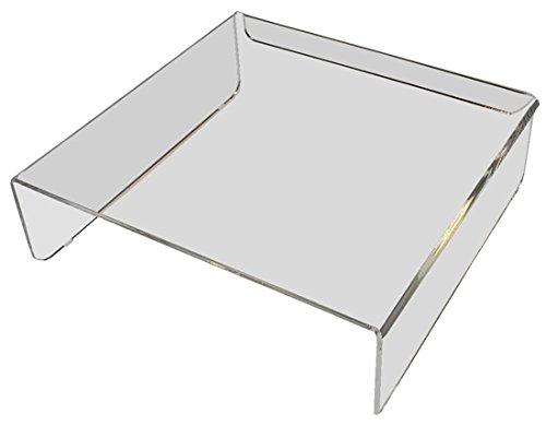 E8 Ergonomische Monitorerhöhung 26,5 x 25,5 x 8 cm BxTxH Acrylglas klar