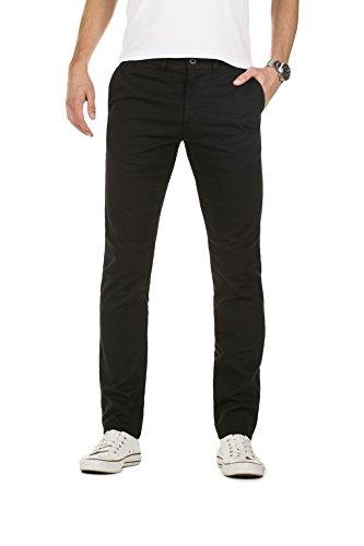 Yazubi Herren Chino Hose, Slim Fit, Modell Kyle, Chinohose by YZB Jeans, Schwarz (Black 194008), W38/L36