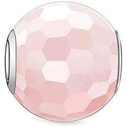 Thomas Sabo Damen-Bead KARMA Rosenquarz facettiert 925 Silber Quarz rosa - K0005-034-9