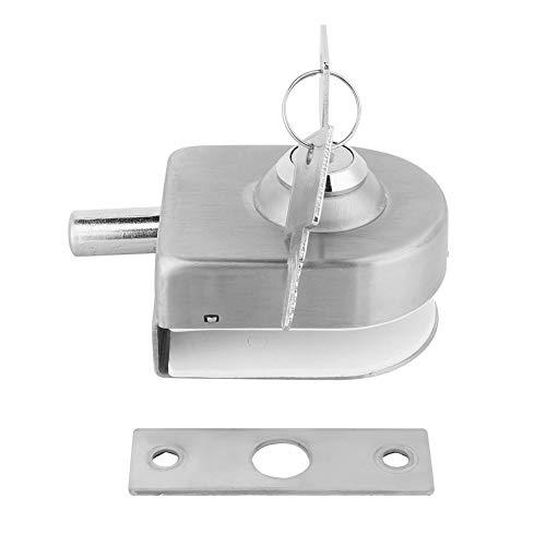 31X5h%2BzIXAL - Cerradura de Puerta de Cristal, Cerradura de la Puerta de Acero Inoxidable Vidrio Pestillo para el Hogar Accesorios de Baño