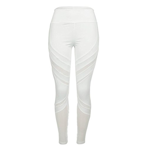 ille Sport Gym Yoga Laufen Fitness Leggings Sporthose Mesh (Damen-guess Jeans-größe 32)