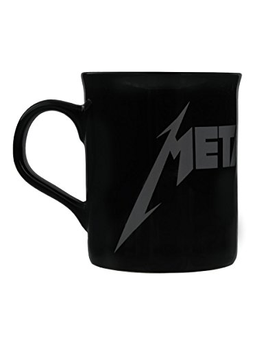 Tazza Metallica Grey Logo in nero