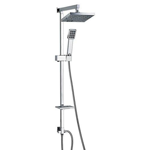 Regendusche Duschset Duscharmatur Duschpaneel <br>MATRIX-SILVER<br>Made in EU