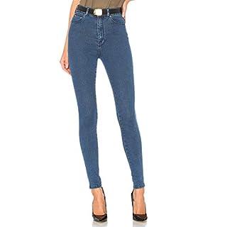 H HIAMIGOS Denim Damen Skinny Jeans NELA Rinse, Blue Denim, L
