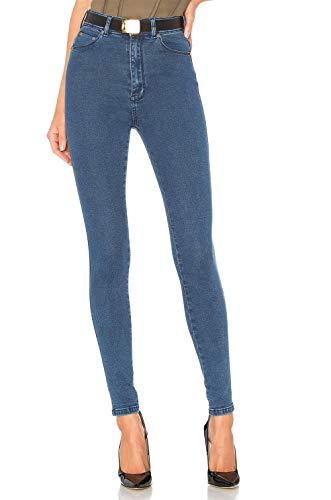 H hiamigos jeans donna skinny a vita alta pantaloni elasticizzati in denim elasticobluit40 (taglia produttore xs)