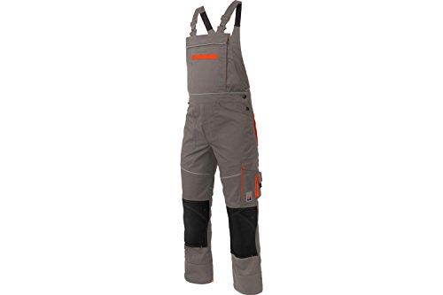 Arbeitslatzhose Starline Plus grau - Latzhosen für Handwerker - Arbeitshosen mit Latz - Gr. 118