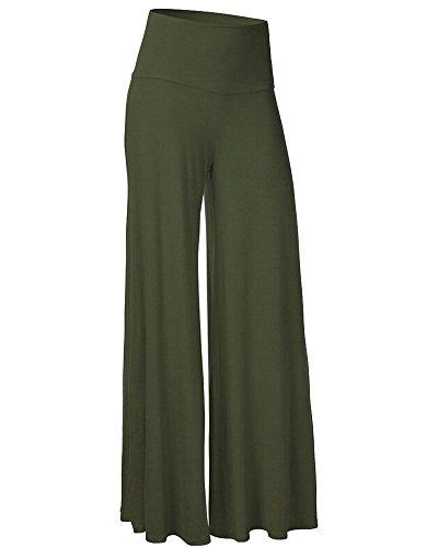 Moollyfox Casual Cool Allentato Pantaloni Mutanda Da Donna Pantaloni Larghi Esercito Verde