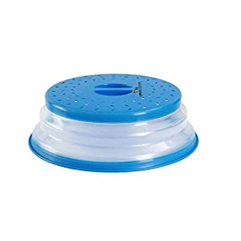 tapa transparente con ventilaci/ón para el vapor para tapar la comida talla /única Tapas de pl/ástico resistente para microondas 26 cm Morado evita salpicaduras Hunt Gold tapa para platos