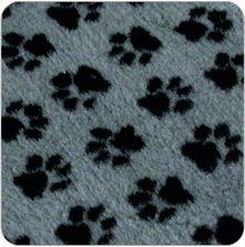 Vetfleece-Non-Slip-With-Small-Paw-Design-Whelping-Fleece-Dog-Cat-Animal-Puppy-Kitten-Vet-Bedding-15M-X-1M-60-X-40-Grey-Charcoal-Paws