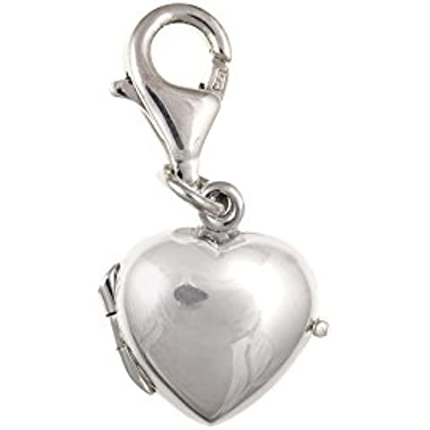 Argento Sterling 925Ciondolo Medaglione a cuore apertura bu2262