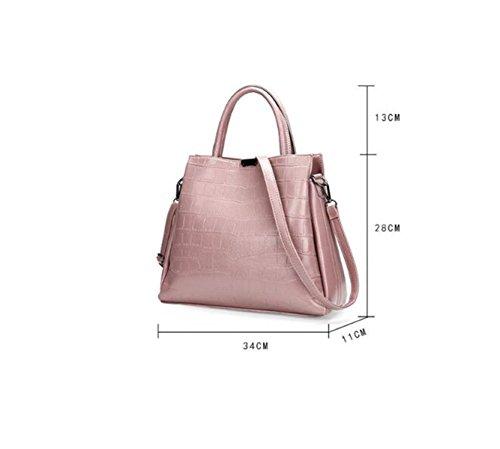 Damen Handtaschen Mode In Europa Und Amerika-Leder-Schulter-Diagonalbeutel Wallet Blue