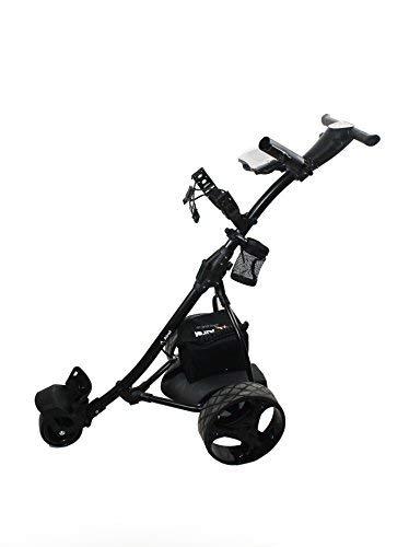 Airel Zerimar Kenrod Carrito de Golf Eléctrico Plegable | Pantalla Digital | Carro Golf 3 Ruedas | Carrito Golf Plegable | Golf Trolley (Blanco)