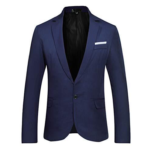 LILICAT Herren Business Sakkos Elegant Freizeitjacke Einfarbig Einreiher Anzugjacke Slim Fit Blazer Smokingjacken