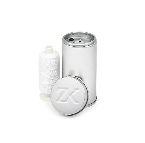 Zahnseidenkampagne Flauschige Expanding Premium Zahnseide gewachst, weiß (250 m Spule + Spender) - Oral-b-fluorid