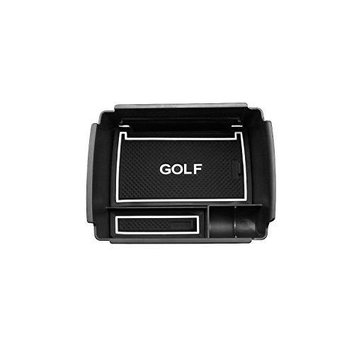 RUIYA Central Console Box bracciolo su Misura per 2016 2017 2018 Golf 7, vano portaoggetti Console Storage Box Inserto Vassoio, Accessorio Auto