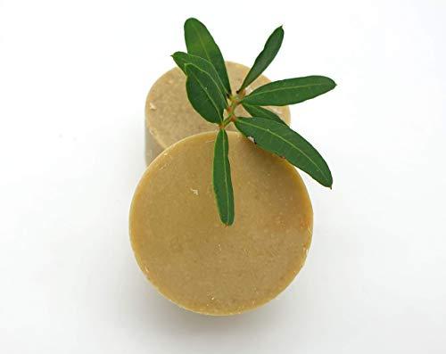 Haarbalsam/fester Conditioner Kräutergrten - bei leicht fettenden Haaren und trockenen Spitzen, vegan, palmölfrei und ohne Plastik, von kleine Auszeit Manufaktur -