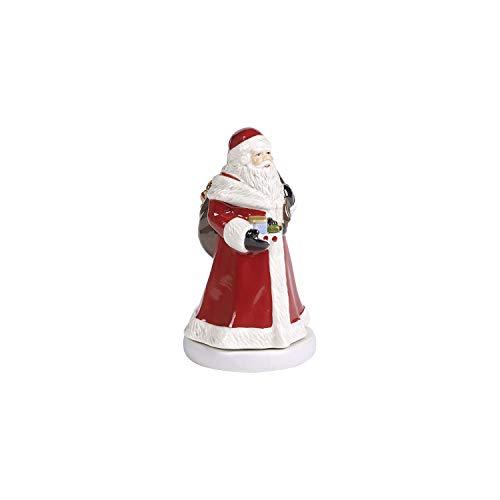 Villeroy & Boch Nostalgic Melody Santa, dekorative Weihnachtsmann-Figur aus Hartporzellan, drehend, Metall, Kunststoff, bunt