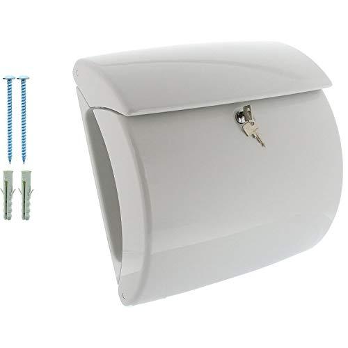 BURG-WÄCHTER, Briefkasten in Klavierlack-Optik, A4 Einwurf-Format, Innenbeleuchtung, Kunststoff, Piano 886 W, Weiß - 4