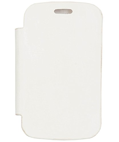 iCandy™ Synthetic Leather Flip Cover For Micromax A52 - WHITE  available at amazon for Rs.160
