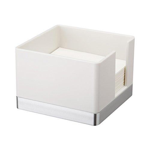 BESTOMZ Portapapeles de plástico Titular Simple Elegante Notas Adhesivas Dispensador de Notas de Escritorio (Blanco)