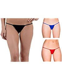 440ffab1de4 LOVERG Panties for Women Combo Pack of 3 Underwear G String Lace Boy Shorts  Briefs Thong