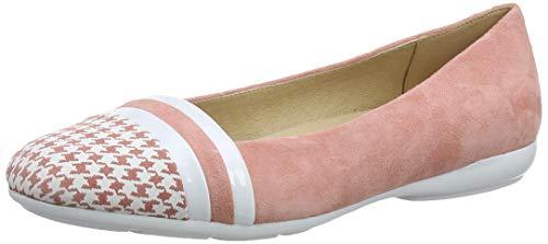 Geox Damen D Annytah a Geschlossene Ballerinas, Pink (Coral/White C7204), 38 EU