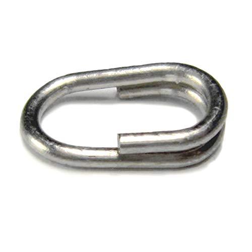 LSHEL Split Ring Sprengringe Stainless Steel 100 Stück (Sprengringe Ovale)