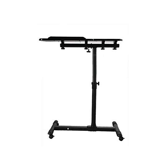 Hohe Patio Tisch (Multifunktions-Nachttisch, Tisch, Laptop, Höhe, Panelwinkel, verstellbar, Esstisch, Schreibtisch, Büro, Schlafzimmer, Balkon, Patio (Color : Black))