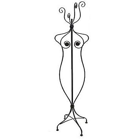 REVIMPORT–Perchero (Busto de mujer hierro forjado negro *