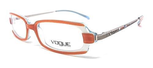 Vogue Damen Brillengestell Arancione, Celeste E Argento 48