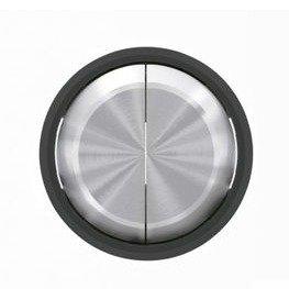 Niessen skymoon - Tecla doble interruptor conmutador cristal negro