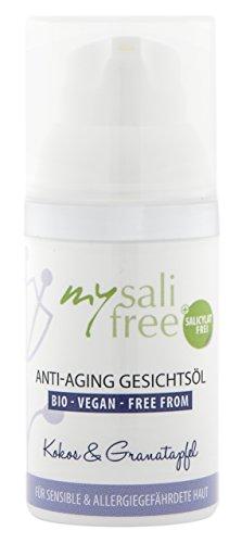 mysalifree BIO ANTI AGING GESICHTSÖL, Intensivpflege für sensible Haut, mit zartem Kokosduft,...