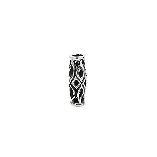 NKlaus 925 STERLING SILBER Keltische Gothic Bartperle und Haarzopfperle Thorfinna 7138 (Gothic Sterling Silber)