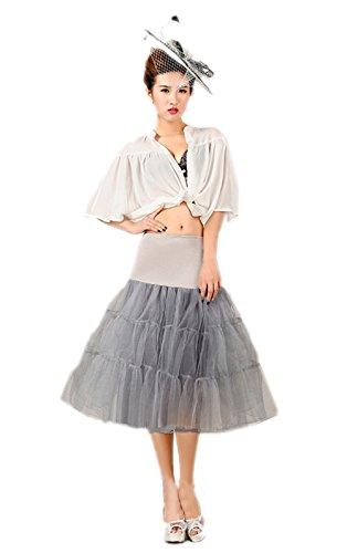Honeystore Wedding bridal 1950 Petticoat Reifrock Unterrock Petticoat Underskirt Crinoline für Rockabilly Kleid Grau (Kostüm Juliet Moderne)