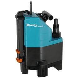 GARDENA Pompe d'évacuation pour eaux chargées aquasensor 13000 Comfort: pompe immergée, débit 13000 l/h, fonctionnement automatique, moteur silencieux et sans entretien, raccord universel (1799-20)