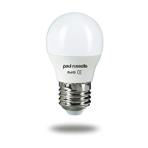 Paul Russels Lot de 35W = 40W Golf ampoules LED E27ES Culot à vis 5W Petit Globe...