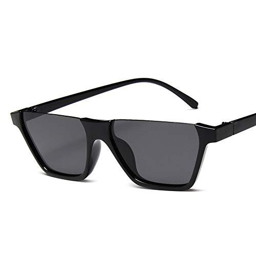 WDDYYBF Sonnenbrillen, Klassische Mode Retro Sonnenbrille Super Hälfte Frame Brille Cat Eye Semi-Rimless Frauen Sonnenbrille Brille Schutzbrille Uv400 Schwarz Grau