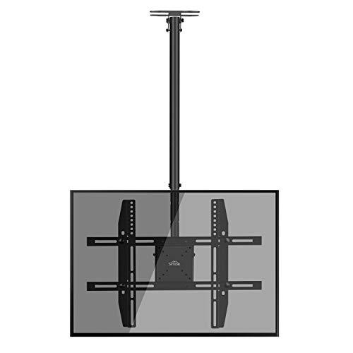 fernsehhalterung fuer dachschraege SIMBR TV Deckenhalterung Schwenkbar Neigbar VESA 600x400 an Flachdach oder Dachschrägen für LED LCD Plasma TVs von 22 bis 75 Zoll max. Tragegewicht 50kg