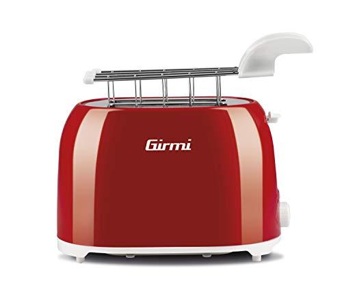 Girmi TP1002Grille-Pain, 750watts, plastique, rouge