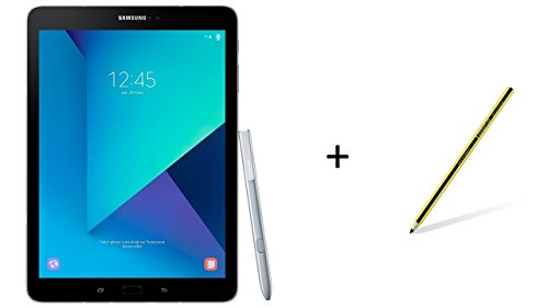 Samsung Galaxy Tab S3 T825 24,58 cm (9,68 Zoll) Touchscreen Tablet-PC (Quad-Core, 4GB RAM, 32GB eMMC, LTE, Android 7.0) silber inkl. S Pen + Staedtler Stylus Noris digital