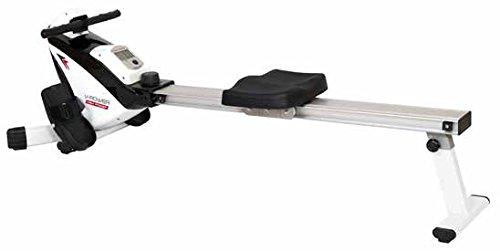 HIGH POWER V-Rower, Vogatore Unisex - Adulto, Grigio/Bianco/Nero, 126.5 x 28.5 x 23 cm