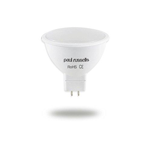 3 Stück Mr16 Led (2x MR16LED Leuchtmittel Paul Russel Spot Leuchtmittel Warm Weiß 2700K, 5W ersetzt 50Watt Glühlampe/Halogenlampe, 120Abstrahlwinkel SMD Spot [2Stück])