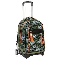 Trolley seven new jack - totem - verde militare - sganciabile e lavabile - 35 lt - scuola e viaggio