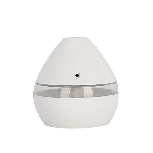 Hanomes Humidificador De Aroma USB Difusor De Aceites Esenciales Humidificador Ultrasonico De Niebla Fria Purificador De Aire 7 Color Change Led Luz De Noche: Madera Clara
