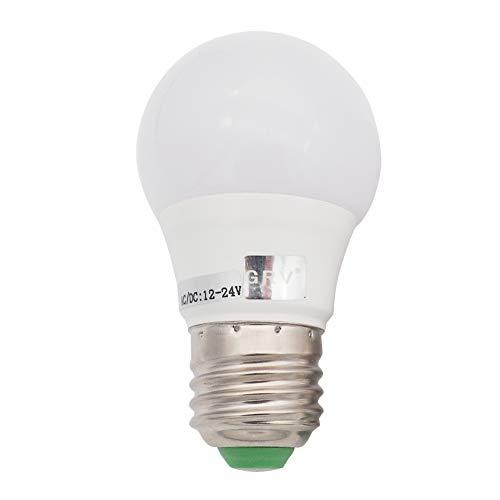 GRV E27 Base 6-5730 SMD Ampoule à LED Non dimmable 3W Lumière en plastique thermique 30 Watt Équivalent AC 12V DC 12-24V Blanc froid Pack de 1